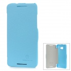 NILLKIN Protective PC Back Case w/ Cover for HTC Butterfly S 901e - Blue
