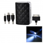 5000mAh Mobile Power Bank w/ Adapters for iPhone / Nokia - Black + White