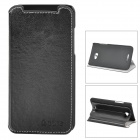 Azns Stylish Protective PU Leather Case for HTC X920e - Black