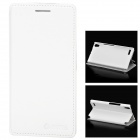 Azns Stylish Protective PU Leather Case for Huawei P6 - White