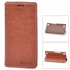 Azns Stylish Protective PU Leather Case for Huawei P6 - Brown