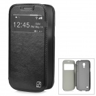 HOCO HS-L045 Protective PC Back Case + PU Leather Cover for Samsung Galaxy S4 Mini i9190 - Black