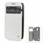 HOCO HS-L045 Protective PC Back Case + PU Leather Cover for Samsung Galaxy S4 Mini i9190 - White