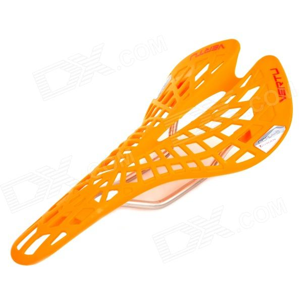 VERTU CCRV-5 Bike Bicycle Hollow Out Seat Saddle - Yellow toseek bicycle saddle carbon ultralight bicycle parts cycling mountain bike front seat mat cushion soft seat selle velo route