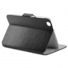 Protective Flip Open PU Leather Case w/ Card Slot for Samsung Galaxy Tab3 P8200 - Black