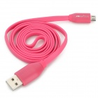 DiscoveryBuy Flat Micro USB Male to USB 2.0 Male Data Sync / Charging Cable - Deep Pink (100cm)