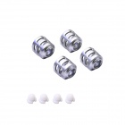 Walkera QR Ladybird-Z-04 Spare Parts Motor Sleeves - Silver Grey + White (4 PCS)