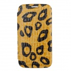 NEWTOP Crocodile Texture Protective PU Leather Case for Samsung Galaxy S4 i9500 - Yellow + Black