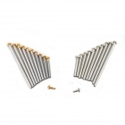 Stainless Steel Repair Accessories Tool for Watch Band Strap Pins / Bars - Golden + Silver (200 PCS)