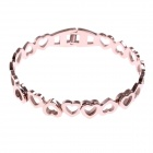 Fashionable Elegant Heart-Shaped Style Stainless Steel Women's Bracelet - Rose Gold