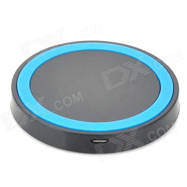 Mikasso Mini Universal QI Standard Wireless Charger - Black + Blue