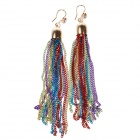 Stylish Glamorous Zinc Alloy Tassels Earrings - Multicolored (Pair)