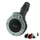 VA-03 Car Cigarette Lighter Charger Bluetooth V4.0 Handsfree Speaker w/ USB Charging Port - Silver