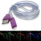 IP-5 Six-Color Lighting USB 2.0 to 8-Pin Lightning Data Charging Cable for iPhone 5 (1m)