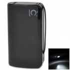 3-in-1 6900mAh Rechargeable Li-ion Portable Power Bank w/ LED Torch Light for iPhone + More - Black