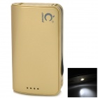 Portable 6900mAh Power Bank w/ Adapters for iPad / iPhone / iPod / Samsung / HTC - Golden