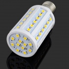 E27 10W 1000lm 3200K 60-SMD 5050 LED Warm White Light Bulb Lamp - Weiß + Silber (DC 8 ~ 24V)