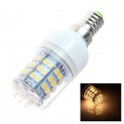 GCD Q26 E14 4W 300lm 3500K 60-SMD 3528 LED Warm White Light Lamp Bulb - White + Silver (220~240V)