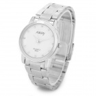 NARY ZEA-QLB-02 Alloy Case Stainless Steel Band Quartz Analog Wrist Watch for Women - Silver + White