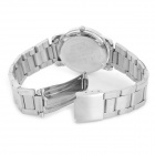 NARY Alloy Case Stainless Steel Band Quartz Analog Wrist Watch for Women - Silver + White