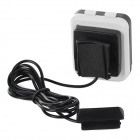 "SAHOO Wired Waterproof PE + ABS 1.6"" Screen Cycle Computer Set for Bike - White + Black"