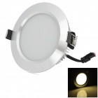 HUGEWIN HTD687S 7W 320lm 3500K 14-SMD 5730 LED Warm White Ceiling Light - Silver