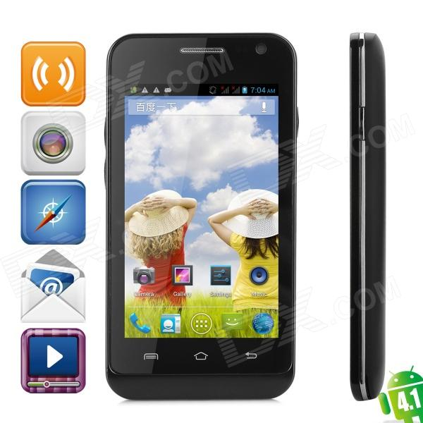 TETHIN TX300 Android 4.1 Dual Core GSM Bar Phone w/ 4.0″, Wi-Fi and Quad-Band – Black