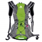 Hasky CY-2014 Outdoor Nylon Backpack w/ Water Bag Compartment - Green + Grey