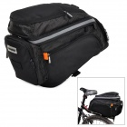 Vsheng BL02 Oxford Fabric Bicycle Backseat Bag / Shoulder Bag w/ Shoulder Strap - Black