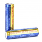 SKY RAY 18650 2700mAh 3.7V Li-ion Battery for Flashlight - Blue + Golden (2 PCS)