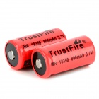 TrustFire 18350 3.7V 800mAh Lithium Batteries - Red + Black (2 PCS)