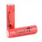 TrustFire 18650 1500mAh 3.7V Li-ion Battery for Flashlight - Red + Black (2 PCS)