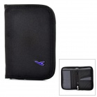 Multifunctional Certificate / Card / Passport Storage Bag Holder - Black