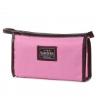 A09-3-001-1 Non-woven Fabrics Cosmetic Storage Bag for Women - Pink + Coffee