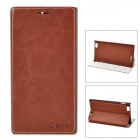 AZNS Protective PU Leather Case for Lenovo K900 - Brown