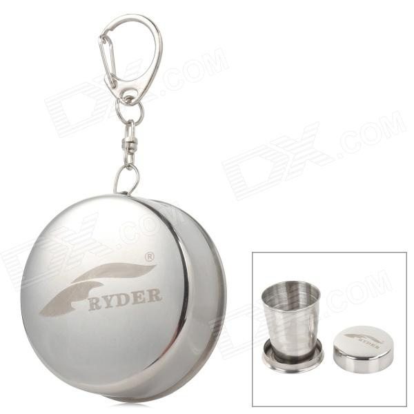 Ryder Outdoor Portable Stainless Steel Retractable Cup - Silver (60ml)