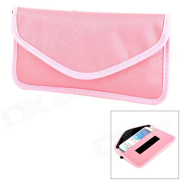 Portable Radiation Protection Nylon Bag Pouch for Cell Phone - Pink
