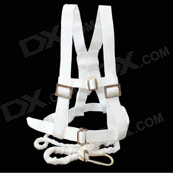 DuxingKe Safety Belt w/ Rope / Quick Release Hook for Outdoor Climbing / Working at Height - White