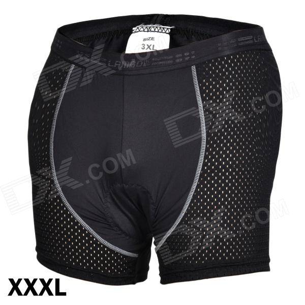 LAMBO 28-00 Men's Outdoor Cycling Nylon + Spandex Half Shorts Pants - Black (Size-XXXL)