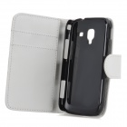 Stylish Flip-open PU Leather Purse Case w/ Holder + Card Slot for Samsung Galaxy Ace 2 i8160 - White