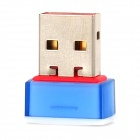 Leguang LG-N12 Mini USB 2.0 150Mbps Wireless Network Adapter - Blau + Weiß
