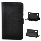 Protective Lichee Pattern PU Leather Case for LG Optimus L9 P760 - Black