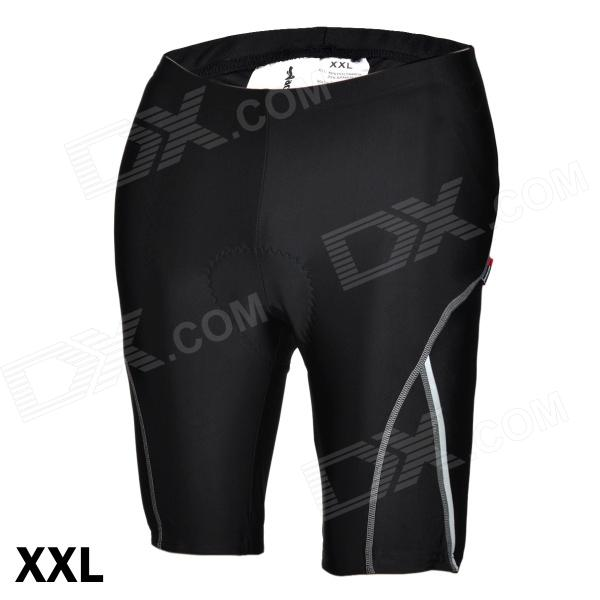 ACACIA 02960105 Cycling Nylon + Spandex Shorts Pants w/ Reflective Strips - Black (Size-XXL) oumily reflective multi purpose paracord nylon rope cord reflective grey 30m 140kg