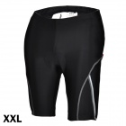 ACACIA 02960105 Cycling Nylon + Spandex Shorts Pants w/ Reflective Strips - Black (Size-XXL)
