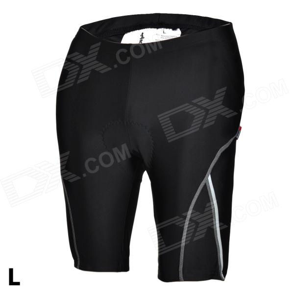 ACACIA 02960103 Cycling Nylon + Spandex Shorts Pants w/ Reflective Strips - Black (Size-L) universal nylon cell phone holster blue black size l