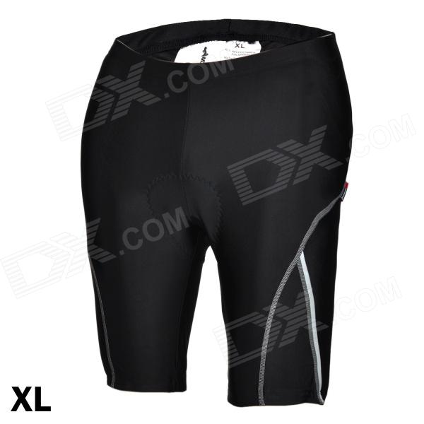 ACACIA 02960104 Cycling Nylon + Spandex Shorts Pants w/ Reflective Strips - Black (Size-XL) oumily reflective multi purpose paracord nylon rope cord reflective grey 30m 140kg