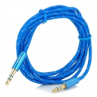 UGreen Gold-Plated 3.5mm Male to Male Audio AUX Connection Nylon Cable - Blue (1.5m)