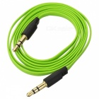 YG-35 3.5mm Male to Male Audio Connection Flat Cable - Green + Black (104cm)