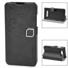 HELLO DEERE Feather Silk Series Fashionable Flip-open PU Leather Case w/ Holder for Mi 2s - Black