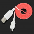 USB to Micro USB Data/Charging Flat Cable for Samsung Galaxy S3 i9300 / S4 i9500 - Red + White